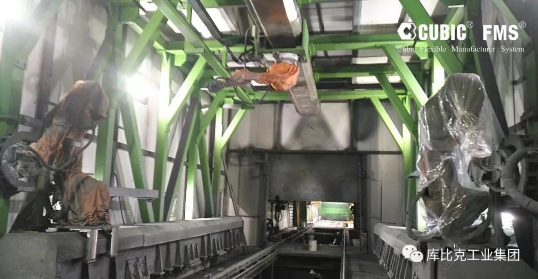 机器人喷涂集装箱 地轨